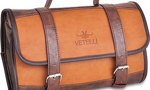 Best Mens Leather Hanging Toiletry Bag 0c048ac5eb